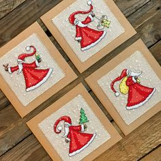 Nordic Santa PDF Cross Stitch Pattern, available to download instantly