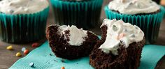 Delicious creamy marshmallow-filled chocolate cupcakes. Fun to make, and so tasty to eat!