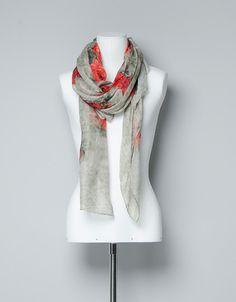 9d124f4d84e8 LEOPARD AND FLOWER PRINT NECKSCARF - Scarves - Accessories - Woman - ZARA  Turkey 60 TRY