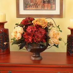 288 best silk flower arrangements images on pinterest in 2018 silk peonies hydrangea rose silk flower bouquet a breath of fresh air to your dcor with this lovely arrangement created with soft light golden peonies and mightylinksfo