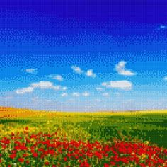 Cross Stitching, Cross Stitch Embroidery, Stitch App, Spring Scenery, Cross Stitch Pictures, Beautiful Day, Overlays, Northern Lights, Painting