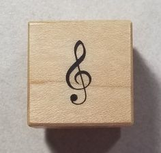 PSX G-Clef Rubber Stamp #A241 Treble Clef Music #PSXDesigns #Background