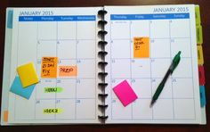 Free printable 2015 calendar - large two-page spreads make this a perfect planning calendar for 2015 appointments. Large boxes accommodate post-it notes. By WeighToMaintain.com