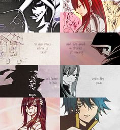 Fairy Tail- Jellal and Erza Fairy Tail Love, Fairy Tail Ships, Fairy Tail Anime, Erza Scarlet, Nalu, Erza Y Jellal, Zeref, Fairy Tail Quotes, Elsa