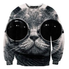 Cool Cat Sweater Unisex, $59, now featured on Fab.