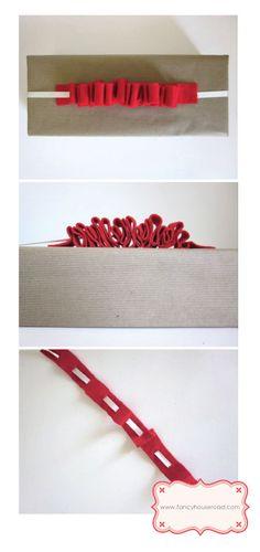 Gathered ribbon in felt