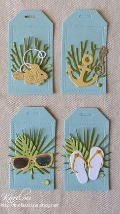 kdos centerpieces and small cards - Karilou& scrap- Scrapbook Borders, Scrapbook Embellishments, Scrapbook Cards, Paper Tags, Paper Clip, Card Tags, Gift Tags, Nautical Cards, Handmade Tags