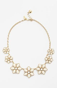 kate spade new york 'floral fete' graduated flower necklace available at #Nordstrom