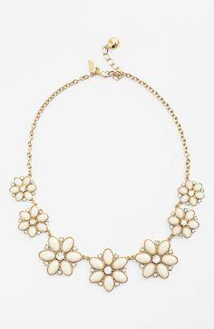 Kate Spade Floral Fete graduated flower necklace