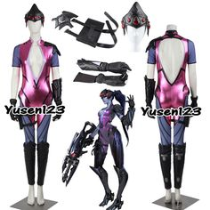 OW Game Widowmaker Emily Cosplay Costume Halloween Clothing Custom Made Costume Halloween, Halloween Outfits, Cool Costumes, Cosplay Costumes, Halloween Party, Widowmaker, Overwatch, Geek Gifts, Complete Outfits