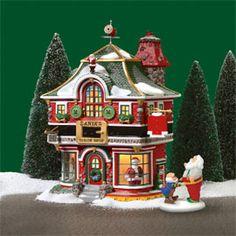 "Department 56 - Product Zoom Window ""Santa's Tailor Shop"" Size: x x Department 56 Christmas Village, Christmas Village Houses, Halloween Village, Christmas Villages, Christmas Scenes, Christmas Art, Beautiful Christmas, Christmas Decorations, Holiday Decor"