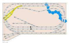 Märklin Gleisplan H0 für das C-Gleis mit vielen Spielmöglichkeiten. Parallelgleis, Nebengleis und vielen Stopgleisen.