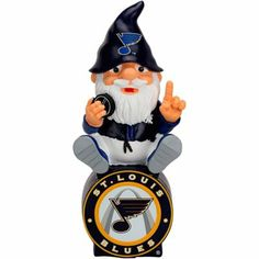 St. Louis Blues Gnome Sitting on a Logo