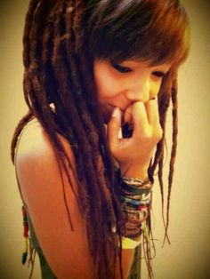 Dreads with bangs.. wondering if i should have dreads again :: #dreadstop
