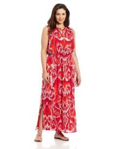 Jones New York Womens Plus-Size Ruffled Maxi Dress
