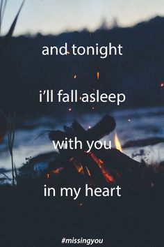 Falling asleep missing you