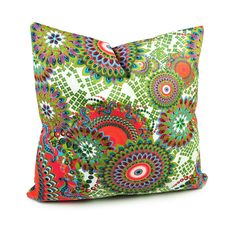 Amazon.com - Benfan Cotton Canvas Decorative Square Throw Pillow Cover with Printed Canvas Size18x18inch -