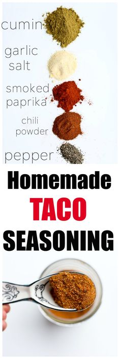 Save money and it's healthy with no added starches oils or MSG like you find in the storebought packet Homemade DIY Taco Seasoning Recipe. Save money and it's healthy with no added starch Diy Taco Seasoning, Taco Seasoning Packet, Seasoning Mixes, Low Sodium Taco Seasoning Recipe, Low Sodium Diet, Low Sodium Recipes, Homemade Spices, Homemade Seasonings, Clean Eating Recipes