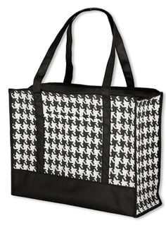 Non-Woven Houndstooth Tote