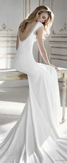 Simple Wedding Dresses Inspired by Meghan Markle | Bateau neckline sleeveless mermaid wedding Dress by La Sposa | Royal wedding sexy elegant bridal gown #weddingdress #weddingdresses #bridalgown #bridal #bridalgowns #weddinggown #bridetobe #weddings #bride #weddinginspiration #dreamdress #fashionista #weddingideas #bridalcollection #bridaldress #fashion #dress See more gorgeous bridal gowns by clicking on the photo
