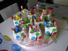 Ballons Birthday Cake