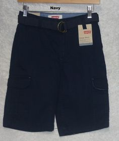 Levi's boy's cargo shorts relaxed fit belted cotton navy youth size 10/25 NEW  19.99 http://www.ebay.com/itm/Levis-boys-cargo-shorts-relaxed-fit-belted-cotton-youth-size-10-25-18-29-NEW-/262056709003?