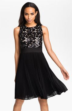 MOH dress for Kalli's wedding:  Eliza J Sequin Bodice Pleated Fit & Flare Dress | Nordstrom