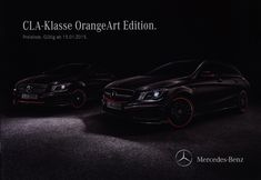 Mercedes-Benz CLA-Class Orange Art Edition. 2015, car brochure