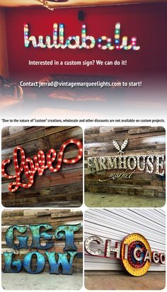 Share for 15% off your purchase!  Design your own custom Vintage Marquee Lights #VintageMarqueeLights