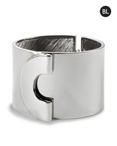 Chico's Women's Black Label Clean Silver Cuff Bracelet, Silver, Size: