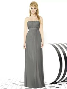 After Six Bridesmaids Style 6710 (shown in charcoal gray)