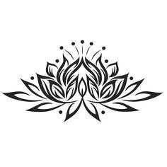 Lotus design  custom vinly decal 6 in. wide by Creativixen on Etsy
