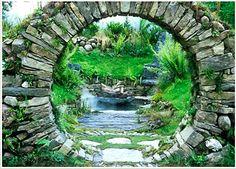 Moon gate  Stone Art Blog: Landscape Designer Mary Reynolds