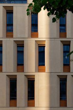 Fassade Passivhaus-Neubau