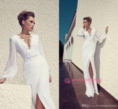 2014 Julie Vino Sheath Chiffon Beach Wedding Dresses Sheath Wedding Dresses   229b8830904c