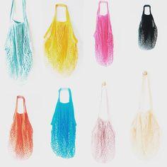 5f46451828 The united colours of mesh bags  meshbag  macrame  netbag  noplasticbags   etsy  ecobag  everydaycarry  beachbag  wovenbag  sacfilet…