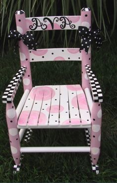 Little girls rocking chair I painted.