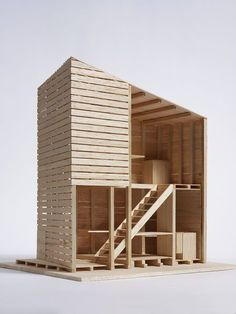 Model for Architects Build Small Spaces exhibition, & Ruin& by C Laboratory - Marco Casagrande, Inkoo, Finland, Museum Number Maquette Architecture, Architecture Model Making, Wooden Architecture, Interior Architecture, Business Architecture, India Architecture, Pallet House, Arch Model, Model Homes