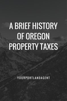 Watch this short video from the local Portland paper about your property taxes.