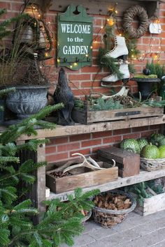 Frau Pedersens Garten - - Wintergarten Ideen - List of the most beautiful garden Cottage Garden Plants, Garden Pots, Cottage Gardens, Garden Ideas, Fruit Garden, Christmas Garden, Winter Garden, Farm Gardens, Outdoor Gardens