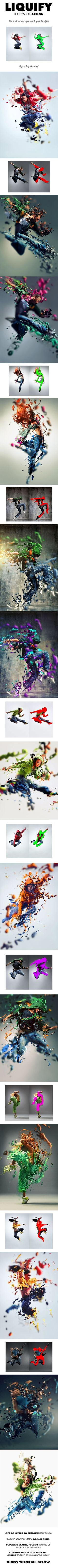 Liquify Photoshop Action - Photo Effects Actions: