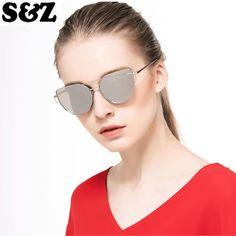 Rose Gold Mirrored Sunglasses, Cat Eye Sunglasses, Frames, Eyes, Check, Women, Fashion, Moda, Fashion Styles