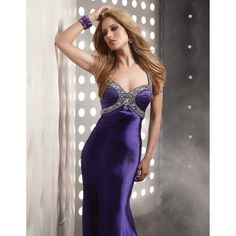 Trumpet Mermaid Halter Full Length Sweep Brush Train Purple Satin Evening Dress