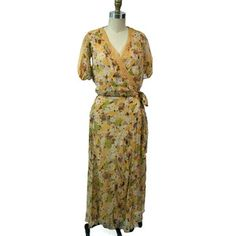 '30s Silk Floral Dress With Slip, $304, now featured on Fab.