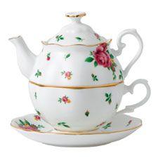 Royal Albert New Country Roses White Tea for One