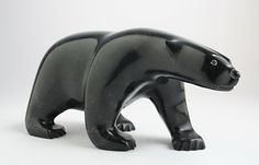Bear | by Ashevak Tunnillie. Surrounded by a stark landscape, the #Inuit people draw inspiration from their relationship with indigenous animals of the Canadian Arctic.