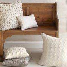 Love repurposing sweaters into cozy pillows