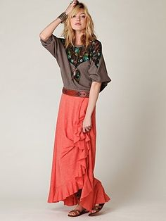 FP Beach Cascade Convertible Skirt at Free People Clothing Boutique - StyleSays
