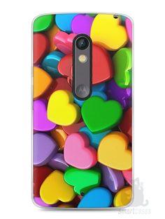 Capa Capinha Moto X Play Corações - SmartCases - Acessórios para celulares e tablets :)