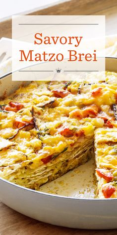 Savory Matzo Brei Recipe | Our savory matzo brei cooks to crispy, cheesy perfection. Serve this popular dish in generous wedges for a traditional Passover breakfast or brunch your guests will love.
